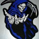 """Orange Grim Reaper Death Patch Patch Biker Motorcycle Jacket Vest Shirt Size 5"""""""