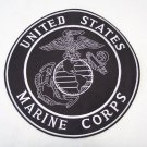 US MARINES MARINE CORPS BACK PATCH LARGE BLACK AND WHITE  FOR VEST JACKET