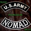 Military Patch Set U.S. Army Nomad Embroidered Patches Sew on Patches for Jacket