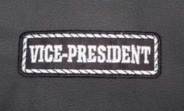 Vice President Patch Badge Emblem for Biker motorcycle Club Officer Leather vest