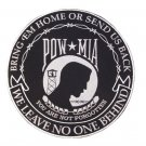 """LARGE POW MIA PATCH FOR BACK OF VEST OR JACKET SIZE 10"""" WE LEAVE NO ONE BEHIND"""