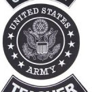 US ARMY TEACHER ROCKERS BACK PATCHES SET FOR BIKER MOTORCYCLE VEST JACKET