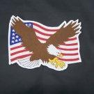 Eagle & US Flag Back Patch for Vest or Jacket Classic Style Patch badge Emblem