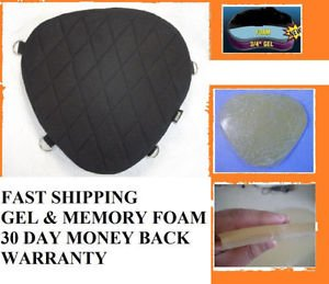 Motorcycle Gel Pad Driver Seat For Harley Davidson FXS Blackline & FXSB Breakout
