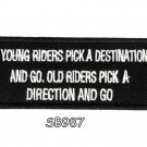 Young riders pick a destination Iron on Small Patch for Motorcycle Biker V