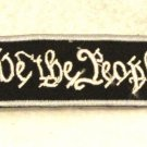We the people White on black with silver boarde Small for Biker Vest Patch