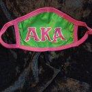 AKA ALPHA KAPPA ALPHA GREEN AND PINK FACE MASK COVER
