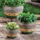 Summerfield Terrace Ceramic Planter Trio - Jade