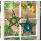Clearance!! Emerald Green Glass Star Lantern