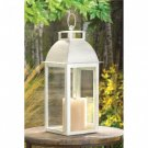 Gallery of Light Distressed Ivory Candle Lantern