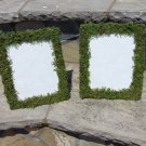 "4- 8""x10"" Moss Covered Wedding table number Frames rustic woodland outdoor"