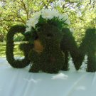 "3 moss letters 10"" inches tall moss monogram wreath moss home decor wedding gift FREE SHIPPING!"
