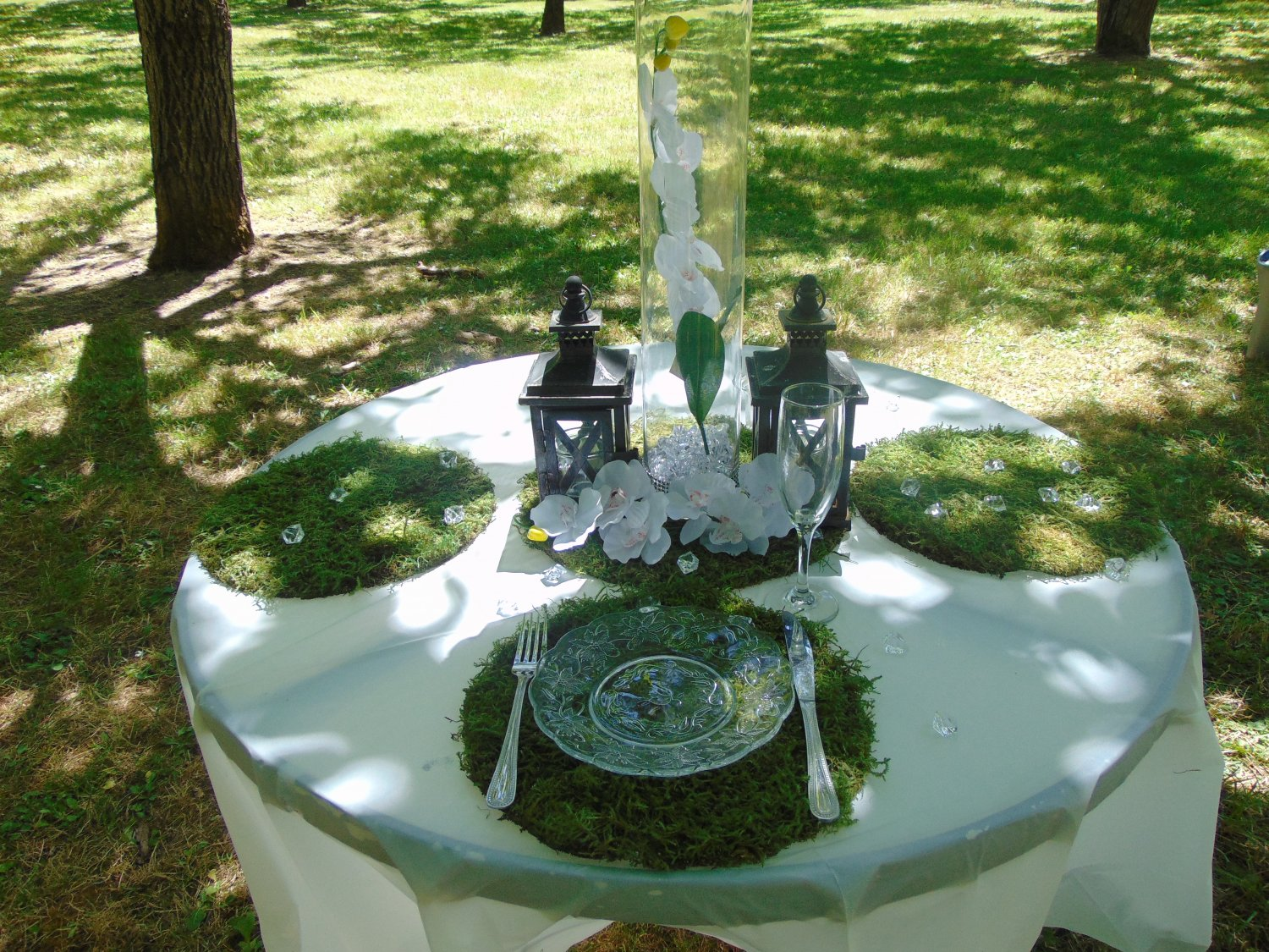 """10- 12"""" round moss chargers plate chargers serveware couture events earthy theme"""