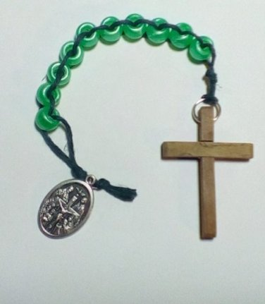 Hand Beaded Sliding Bead One Decade Rosary