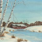 Old Covered Bridge Acrylic Painting