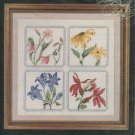 Four Florals Cross Stitch Kit by Janlynn