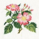WILD ROSES Finished Completed Stitchery Hand Made