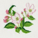 APPLE BLOSSOMS Finished Completed Stitchery Hand Made