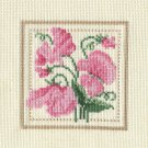 SWEETPEAS Finshed Completed Stitchery Hand Made