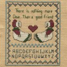 A GOOD FRIEND Finished Completed Stitchery Hand Made