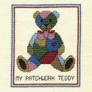 MY PATCHWORK TEDDY Finished Completed Stitchery Hand Made