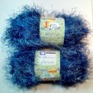 Haute Fur by Yarn Bee  2 Skeins of 3.5 oz. each  - Blue Breeze