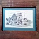 Framed - Motif #1 Rockport, MA Pen and Ink Print