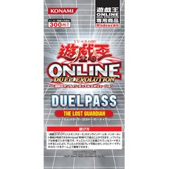 5x Yu-Gi-Oh! ONLINE DUELPASS THE LOST GUARDIAN