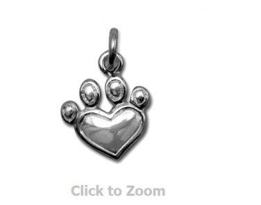 Pet Paw Sterling Silver Charm Pendant 74365