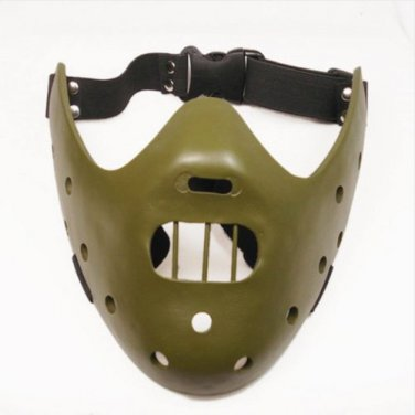 The Silence of the Lambs Hannibal Lecter Green Resin Mask