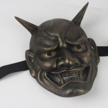 Japanese Buddhist Evil Oni Noh Hannya Mask Halloween Props Collect