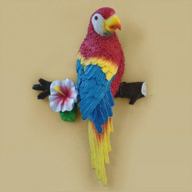 Resin Bird Simulation Parrot Mural Resin crafts red