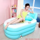 Adult SPA Inflatable bath tub with foot pump blue color