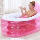 Adult SPA Inflatable bath tub with air pump pink with pump