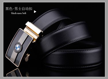 D&L Fashion  Mens Automatic Alloy BWMBuckle Leather Belt