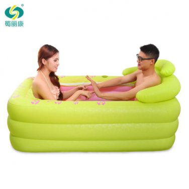 Double person Spa Adult Inflatable Bath Tub with pump Green