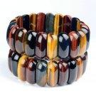 Master---Hand Sanding Tiger's Eye Stone Bracelet Natural Multicolour