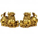 Master Handmade Brass Good Luck Brave troops Statue one pairs for Collectible