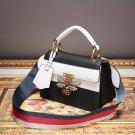 EU Fashion Genuine Leather bag butterfly women handbag shoulder bag BLACK &WHITE
