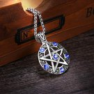 Master-- Stainless Pentacle Pagan Wiccan Witch Gothic Pewter Pendant with 19 inch Necklace