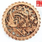Master Handmade Phoenix Pattern Wood Carving Pendant for Room Wall Ornamentation