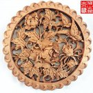 Master Handmade flowers pattern Wood carving Pendant for room wall ornamentation