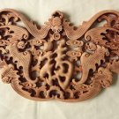 Master Handmade fan-shaped bat pattern Wood carving Pendant for room