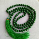 Master---Handmade Green Jade Buddhist 108pcs Beads Bracelet Necklace