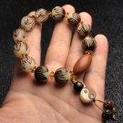 Master---Hand Carving White Rudraksha Lotus Buddhist Beads Bracelets