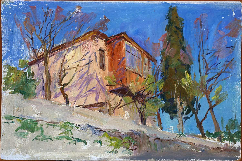 Landscape Painting Original oil painting Soviet of the USSR Ukraine Europe Realism Impressionism