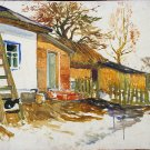 Landscape Painting Original oil painting Soviet of the USSR Ukraine Europe Realism