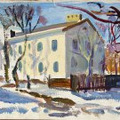 Landscape Painting Original oil painting Soviet of the USSR Ukraine Europe Realism