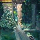 Landscape Painting Original paper oil Soviet of the USSR Ukraine Europe Realism Impressionism