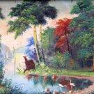 Oil Painting Handmade Vintage Soviet Socialist Realist propaganda USSR
